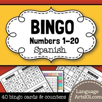 Spanish Bingo Numbers 1-20/Bingo Español números 1-20