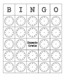 Spanish - Bingo - Time