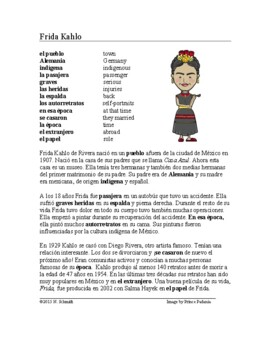 Frida Kahlo Biography ~ Lectura de la vida de Frida Kahlo