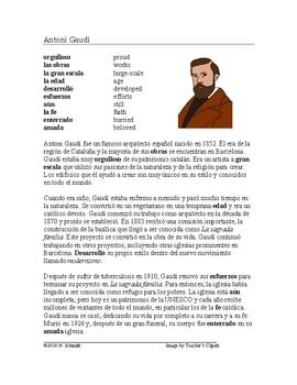 Antonio Gaudi Biography ~ Lectura de Antonio Gaudí y La sa