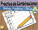 Spanish Blending Practice Sheets. Hojas para practicar mez