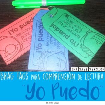 """Spanish Brag tags  """"Yo puedo"""" statements {Comprensión de l"""