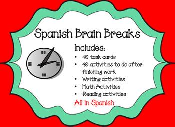 Spanish Brain Breaks