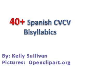 Spanish CVCV Words