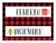 Spanish Calendar Months- Camping Themed!