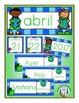 Spanish Calendar Pocket Chart Bundle for Spring
