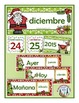 Spanish Calendar Pocket Chart Bundle for Winter