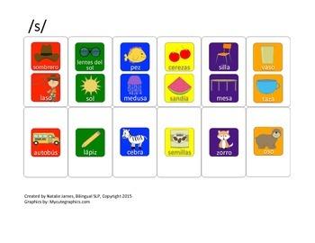 Spanish Candyland Articulation Cards