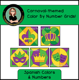 Spanish Carnaval March Mystery Pictures! Color By Number /