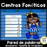 Spanish:  Centro foneticos 005: A-Z diccionario - pared de
