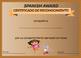 Spanish Certificates|Awards Templates