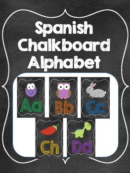 Spanish Chalkboard Letters