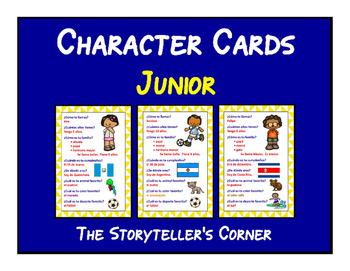 Spanish Character Cards - Junior
