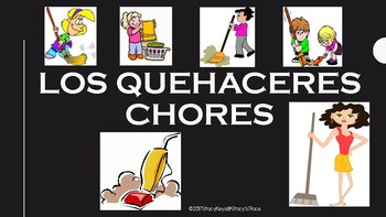 Spanish Chores Flashcards (Los Quehaceres)