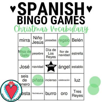 Spanish Christmas BINGO - Nativity Vocabulary