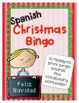 Spanish Christmas Bingo Activity Game - La Navidad - Plus