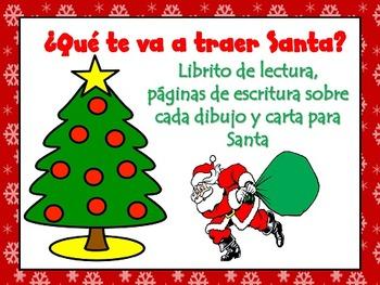 Navidad! Spanish Christmas Book, Writing Activities, and L