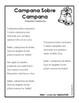 Spanish Christmas Carol Lyric Fill-in Campana sobre campana