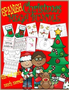 Spanish Christmas MEGA BUNDLE: Math, Literacy and Writing