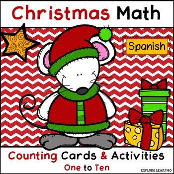 Spanish / Christmas Math Counting 1 - 10 / Cards & Activit