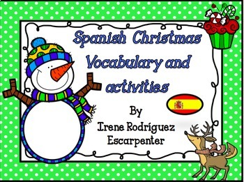 Spanish Christmas Vocabulary Words and Activities