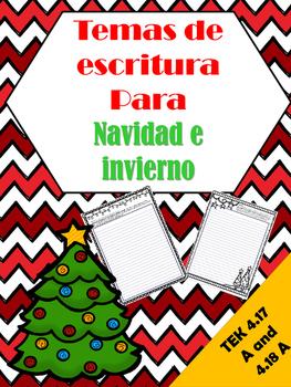 Spanish Christmas and Winter Writing / Temas de escritura