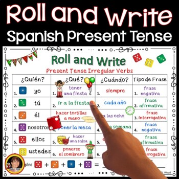 Cinco de Mayo Spanish Roll and Write Verb Activities