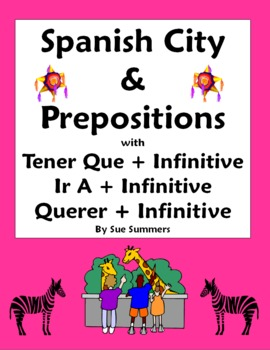 Spanish City and Prepositions with Tener Que, Ir A and Que