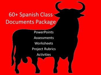 Spanish Class Activities Package Deal
