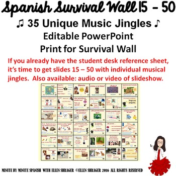 Spanish Class Hack: 90% TL and CI Student Survival Vocab M