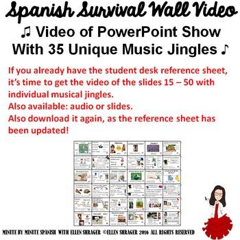 Spanish Class Hacks: Video of Musical Spanish Survivor Voc