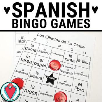 Spanish Class Objects BINGO