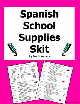 Spanish Class Objects / School Supplies Skit / Role Play /