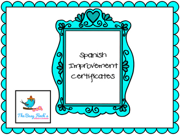 Spanish Class Printable Positive Reinforcement