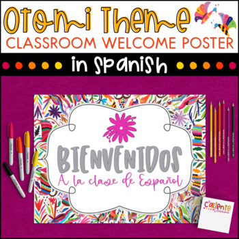Spanish Class Welcome Poster - Otomi Theme