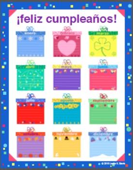 Spanish Classroom Birthday Poster