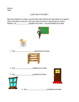 Spanish Classroom Object Scavenger Hunt
