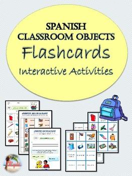 Spanish Classroom Objects Flashcards