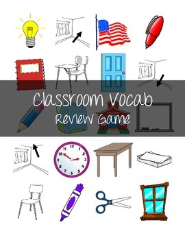 Spanish Classroom Objects/Nouns Square Game/Nariz Game