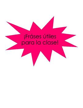Spanish Classroom Phrases.