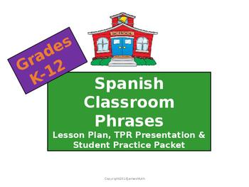 Spanish Classroom Phrases Lesson Plan, Presentation & Stud