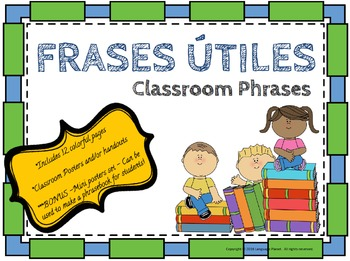 Spanish Classroom Phrases Poster Set or Handouts