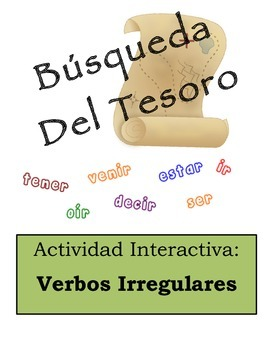 Spanish Irregular Verbs Scavenger Hunt Activity