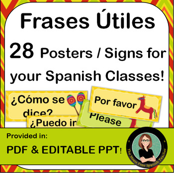 Spanish Classroom Signs / Posters, Useful Phrases and Questions
