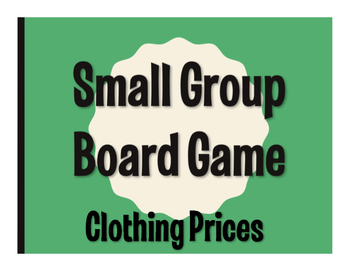 Spanish Clothing Prices Board Game