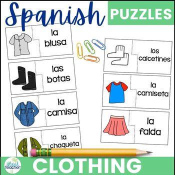 Spanish Clothing Puzzles: La Ropa
