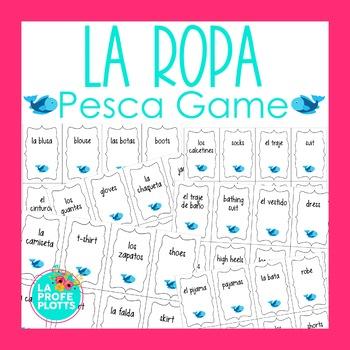 Spanish Clothing Vocabulary ¡Pesca! (Go Fish) Game