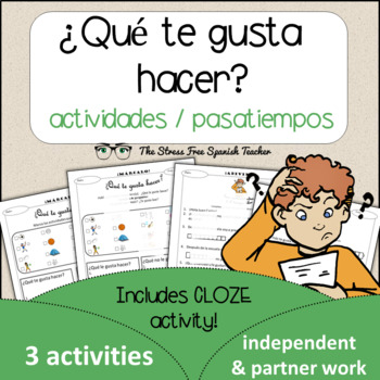 Spanish Cloze Printable, Differentiated, Vocabulary: Activ