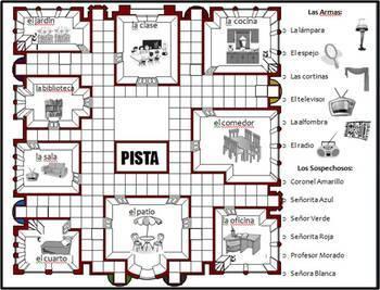 Spanish Clue Board Game