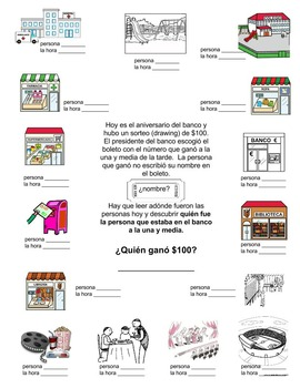 Spanish Clue - preterite & imperfect verbs, town vocabulary